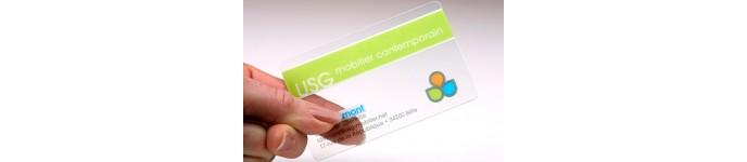 Carte PVC Transparent