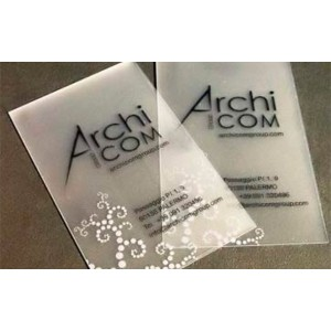 200 Cartes PVC Transparent
