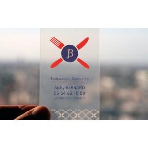 400 Cartes PVC Transparent