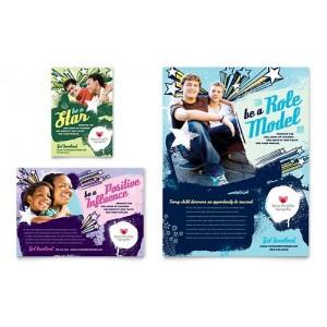 50 flyers  Format A4 170 gr imp Recto