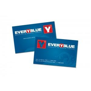 500 cartes de visite  Recto/verso  Non pelliculé