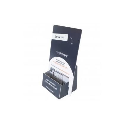 50 présentoir carton format 10x21x3 cm