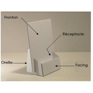 100 présentoir carton format 10x21x3 cm