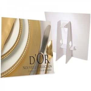 50 présentoir carton format 15x21x3 cm