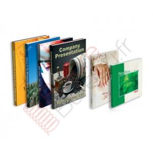 10 livres dos carré-collé A5 40 pages avec couverture