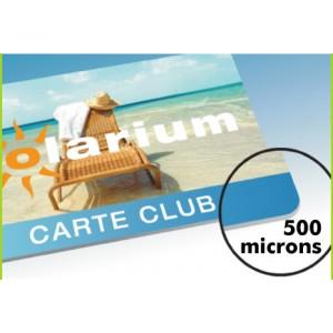 500 cartes PVC Recto