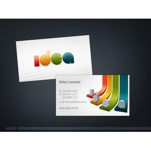 1000 cartes de visite  Recto  Pelliculé recto