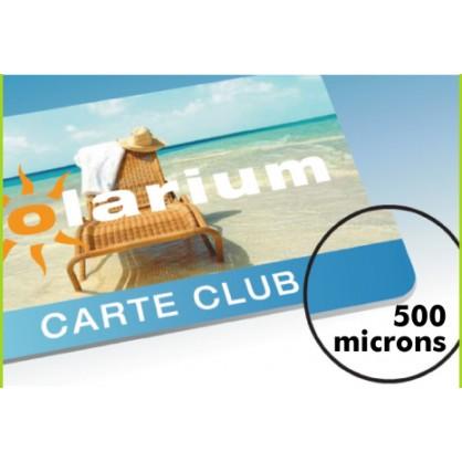 250 cartes PVC Recto/verso